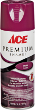 Ace Premium Spray Paint + Primer, 12 Oz. Assorted colors and finishes 1003995 Rust Stop Spray Enamel, 15 Oz., 1003979...2 for $7 Marking Paint, 17 Oz., 1017557...2 for $9 Striping Paint, 1001114...2 for $10 product image.