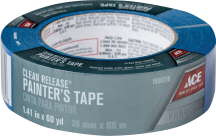 """Masking Tape Up to 7-day clean release blue tape. 1.4"""" x 60 yds. (1008218) product image."""