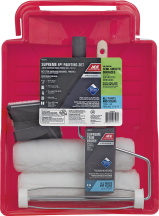 """6 Pc. Supreme Painting Set Includes 2 roller covers, 2"""" angle brush, Trimline edger, roller and plastic tray. (1309715) product image."""