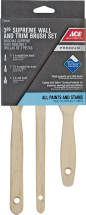 """Supreme™ Paint Brush 3/Pk. 1"""" angular, 1-1/2"""" angular and 2"""" flat. Teflon® surface protector for superior coverage and easy clean-up. (1494798) product image."""