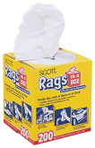 Rags in a Box Clothlike strength with sponge-like absorbency. Box of 200. (19365) product image.