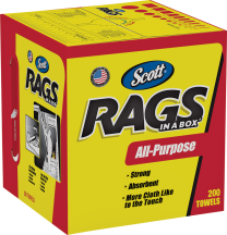 Scott® Rags In A Box™, 200 Ct. product image.