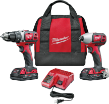 Milwaukee® M18 Combo Kit Compact and Impact Driver   (2306868) product image.