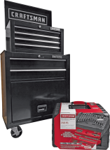 Craftsman 6-Drawer Ball-Bearing Tool Chest & Cabinet or 193 Pc. Mechanic's Tool Set 2392082, 2392538 product image.
