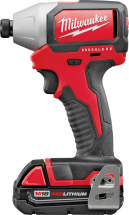 Milwaukee® M18 Compact Cordless Impact Driver Kit   (2423291) product image.