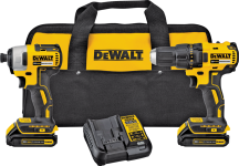 DeWalt 20 Volt MAX Brushless Compact Drill & Impact Driver product image.