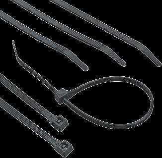 """Gardner Bender 8"""" Black UV Cable Ties (3001807) product image."""