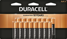 Duracell® Batteries AA or AAA 16/pk., C or D 8/pk., 9-volt 4/pk., Quantum AA or AAA 12/pk. 3100476, 3100856, 3102605, 3166659, 3166675, 3460250, 3460292 Limit 4 at this price. product image.
