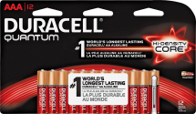 Duracell Batteries AA or AAA 16/pk., Quantum AA or AAA 12/pk 3166659, 3166675, 3460250, 3460292 Limit 4 at this price product image.