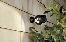 Ultrabright Motion-Sensing LED Spotlight. Dark Brown or White product image.