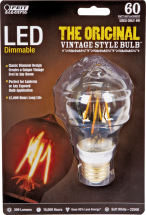 Dimmmable LED Vintage Style Bulb Assorted styles. Lasts 13+ yrs. 3514767, 3514809, 3515012 product image.