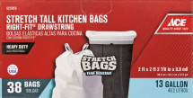 Ace Trash Bags 6186761, 6187116, 6214910, 6225858, Limit 5 total at this price. product image.