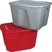 18 Gal. Tote Red or Silver 6340905, 6341937 product image.
