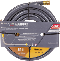 "Flexogen 5/8"" x 50' Hose Premium 6 ply hose. Lightweight & flexible with exceptional durability. Kink and twist resistant. (71928) 5/8""X100' -72054...$37.99 Ea. product image."