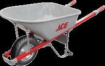 6 Cu. Ft. Steel Wheelbarrow   (7331705) product image.