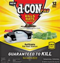 D-Con® Pro Refillable Rat Bait Station product image.