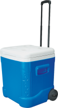 Igloo® 60 Qt. Roller Cooler Holds 90 cans. Locking telescoping handle. (8299604) product image.