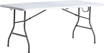 Living Accents® 6' Fold-in-Half Table product image.