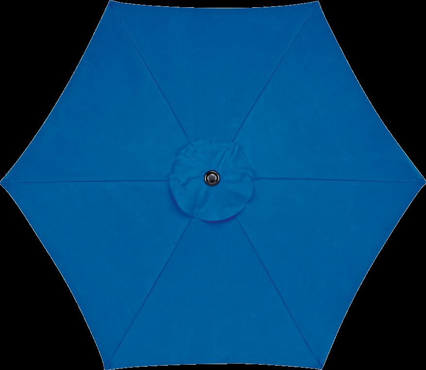 Living Accents® 9' Market Umbrella Steel frame, push-button tilt, polyester fabric. 8389033 Umbrella Base 8329740, 8329757...$29.99 Ea. product image.