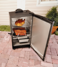 """30"""" Digital Control Electric Smoker Holds up to 30 lbs. of food. 4 shelves, digital control panel. 8438921 Limit 4 at this price. product image."""