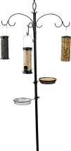 Super Bird Feeding Station Includes pole, hooks, water dish, mealworm dish, seed feeder, suet feeder and peanut tender. 8497893 Bird food sold separately. product image.