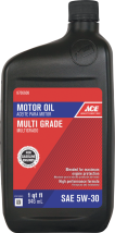 Ace Motor Oil SAE 30, SW-20, SW-30, 10W-30, or 10W-40. 8706608, 8706665, , 8706731, 8706764 product image.