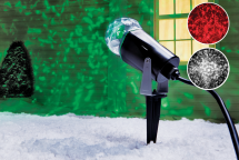 LED Kaleidoscope Spotlight Projector Red, green, or white. (9364977) product image.