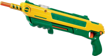 Lawn and Garden Salt Gun It uses ordinary table salt to kill flies and bugs in your lawn and garden Each shot uses ordinary table salt to lay waste to a variety of pests, including flies, mosquitoes, roaches, cabbage worms, aphids, stinkbugs, slugs, and more (9605304) product image.